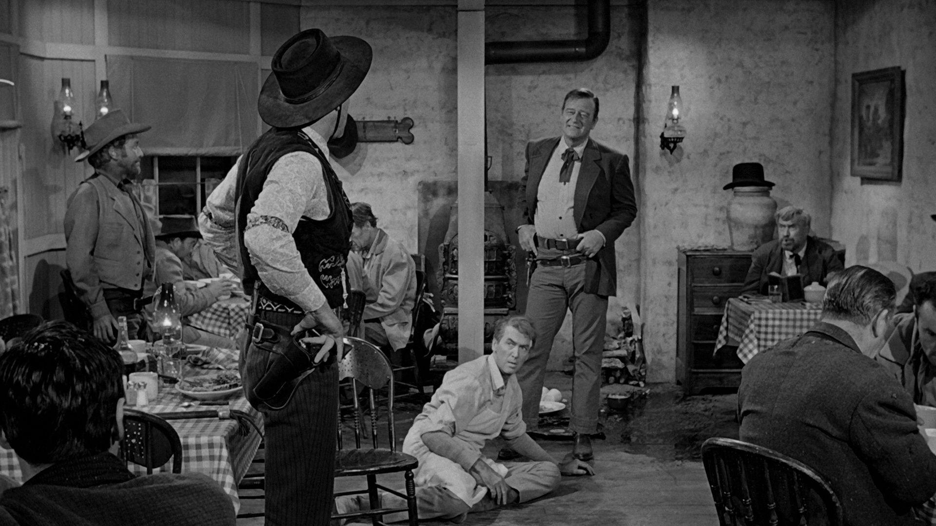 Filmszene aus Der Mann, der Liberty Valance erschoss