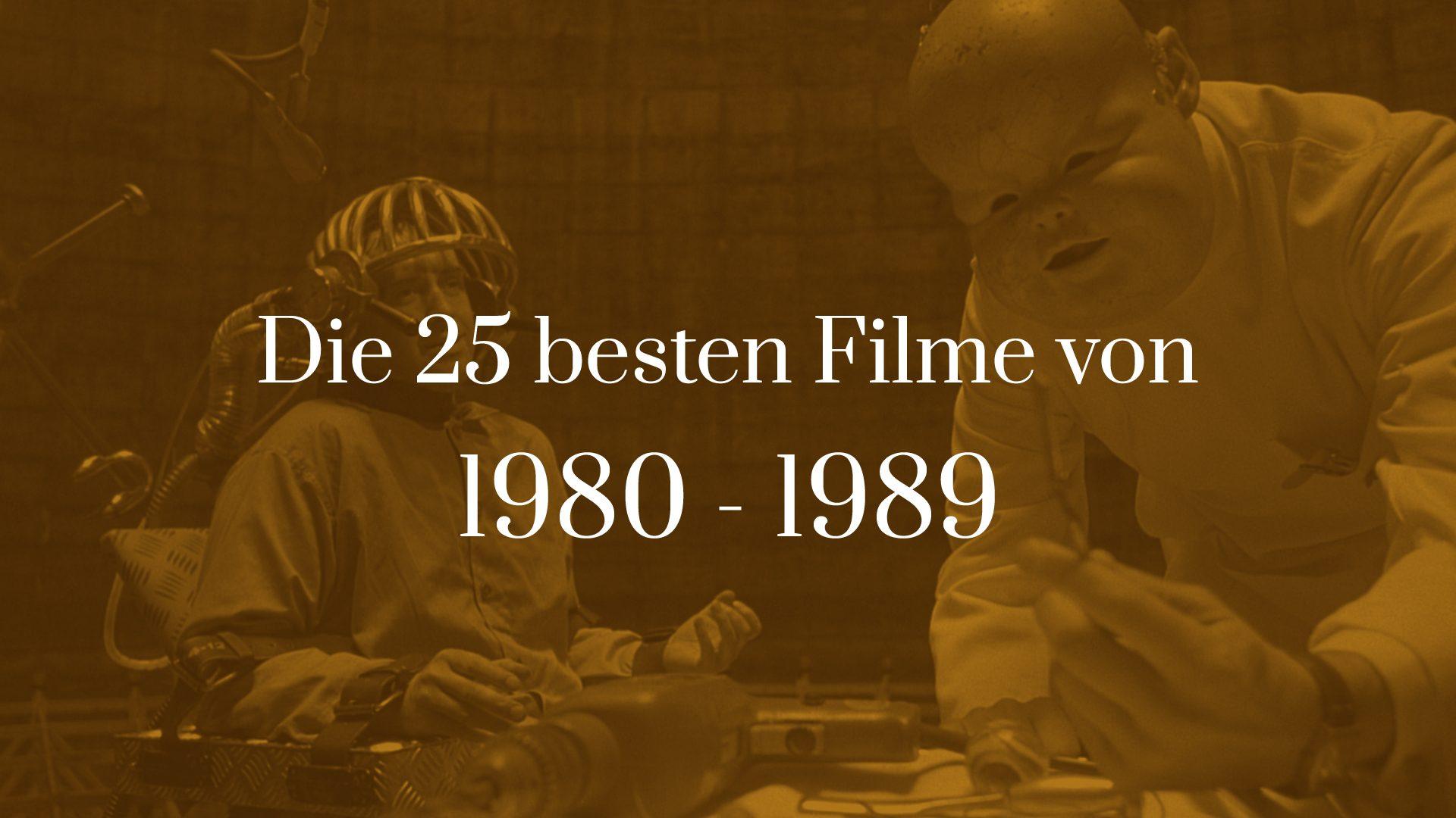 Titelbild für Die 25 besten Filme von 1980 bis 1989