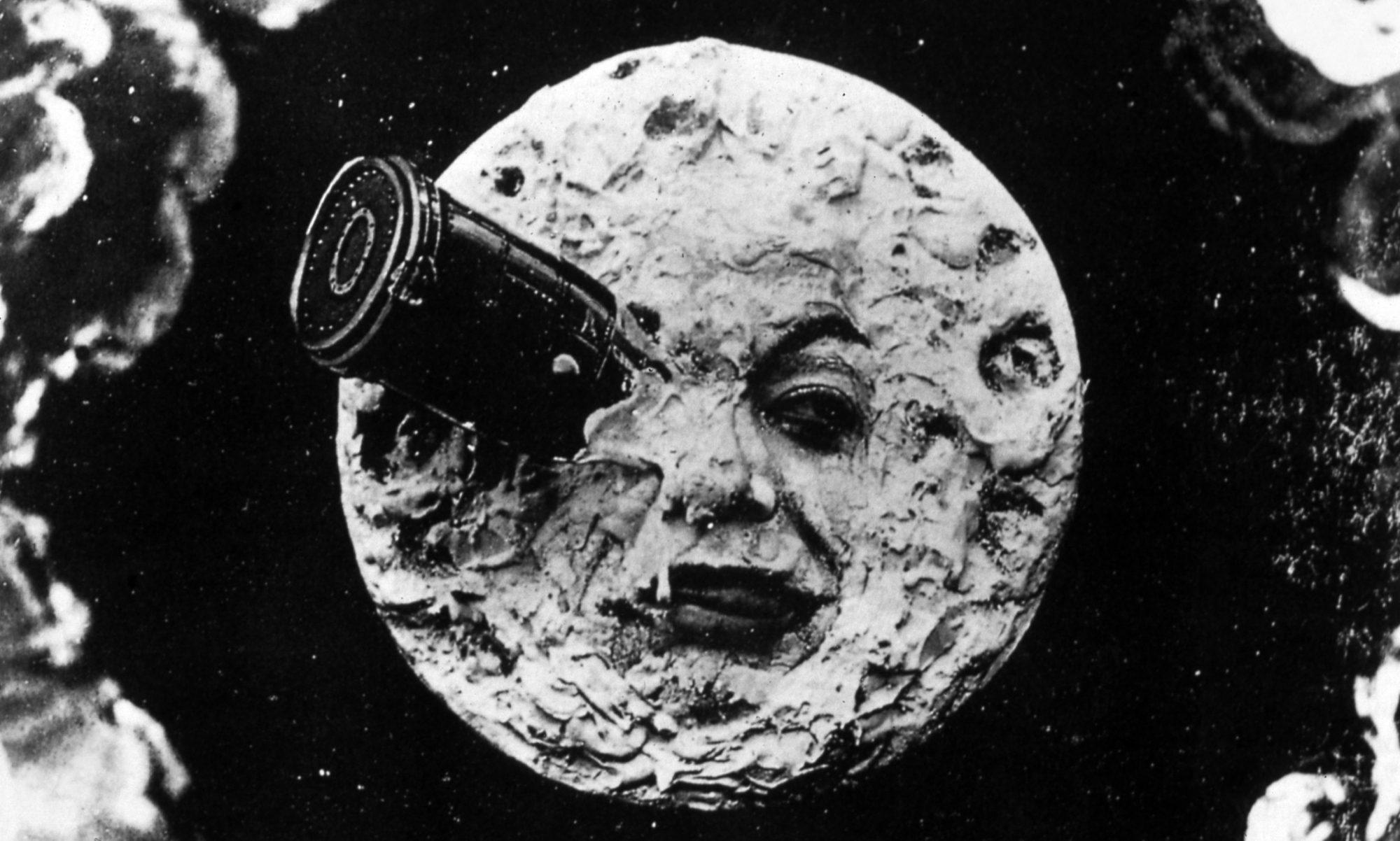 Filmszene aus Die Reise zum Mond