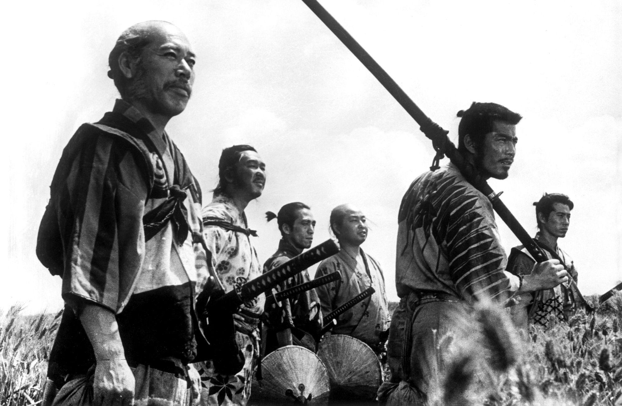 Filmszene aus Die sieben Samurai