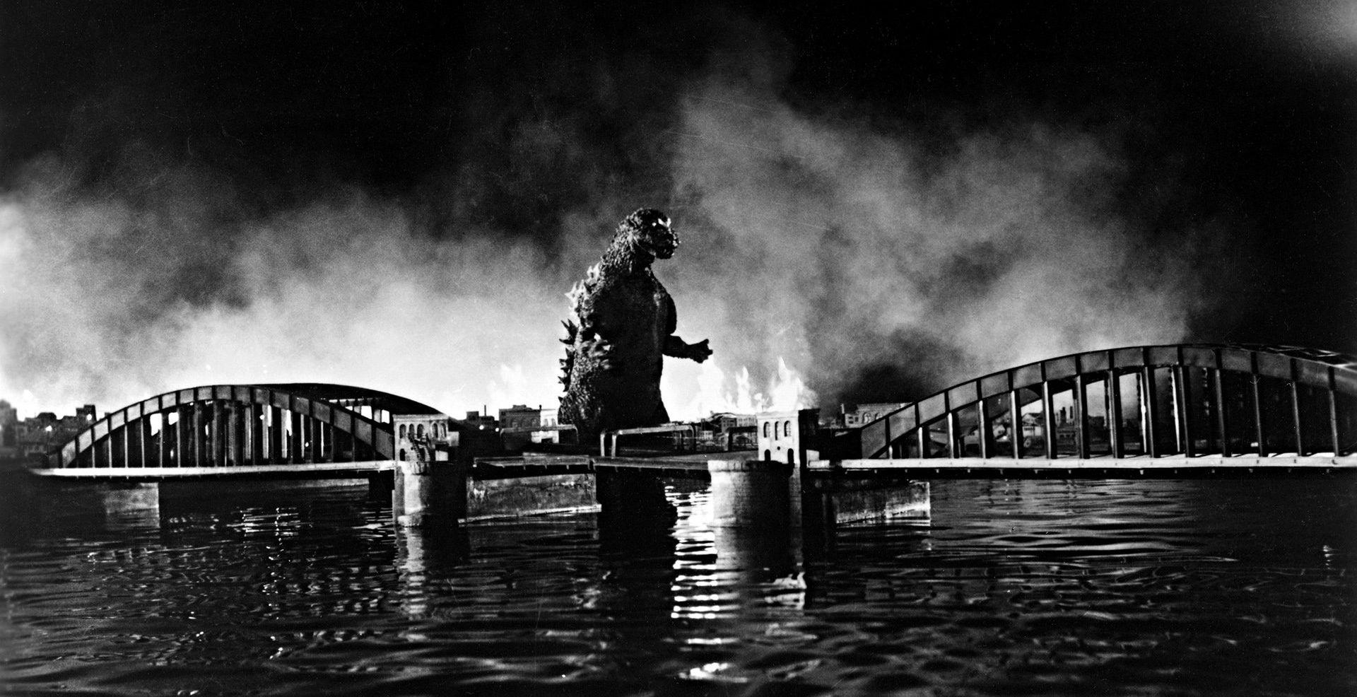 Filmszene aus Godzilla (1954)