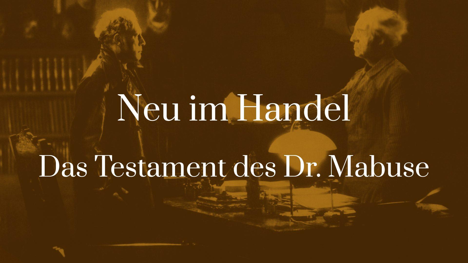 Symbolbild für den Artikel Neu im Handel - Das Testament des Dr. Mabuse