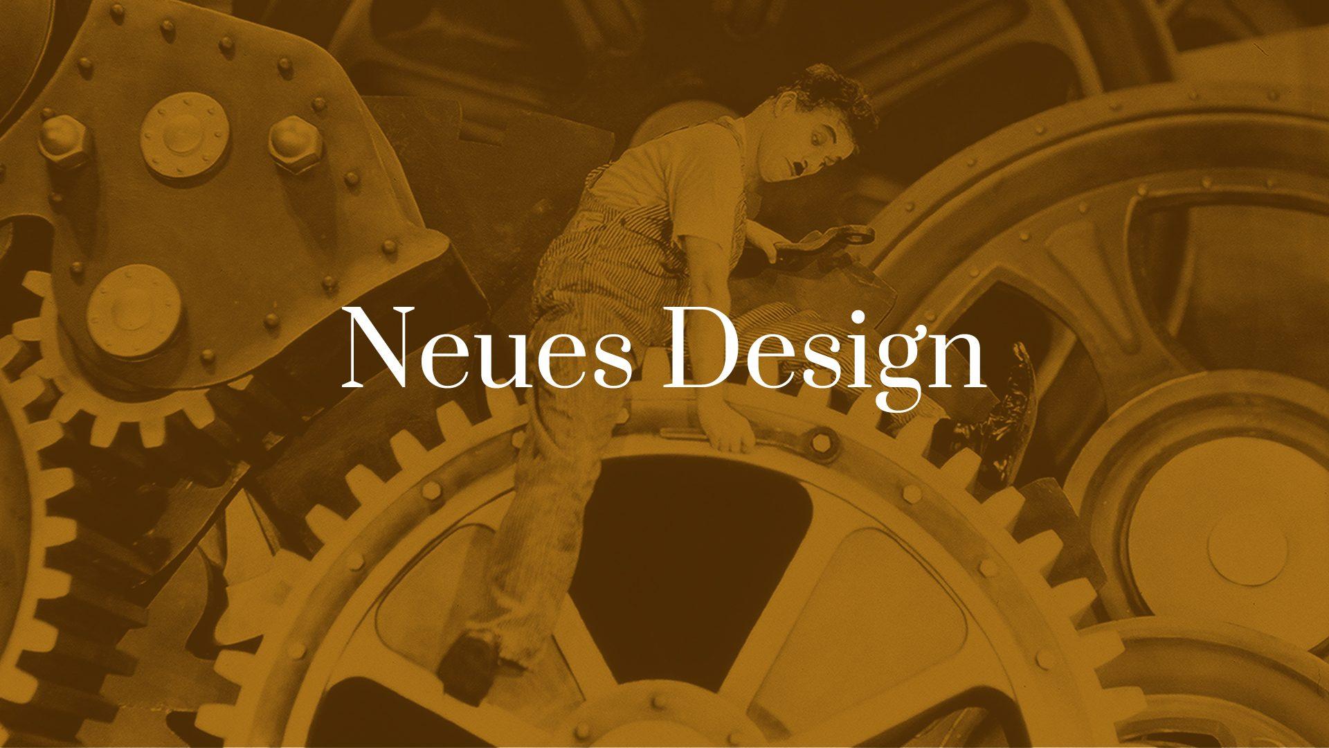 Titelbild zum Blogartikel Neues Design