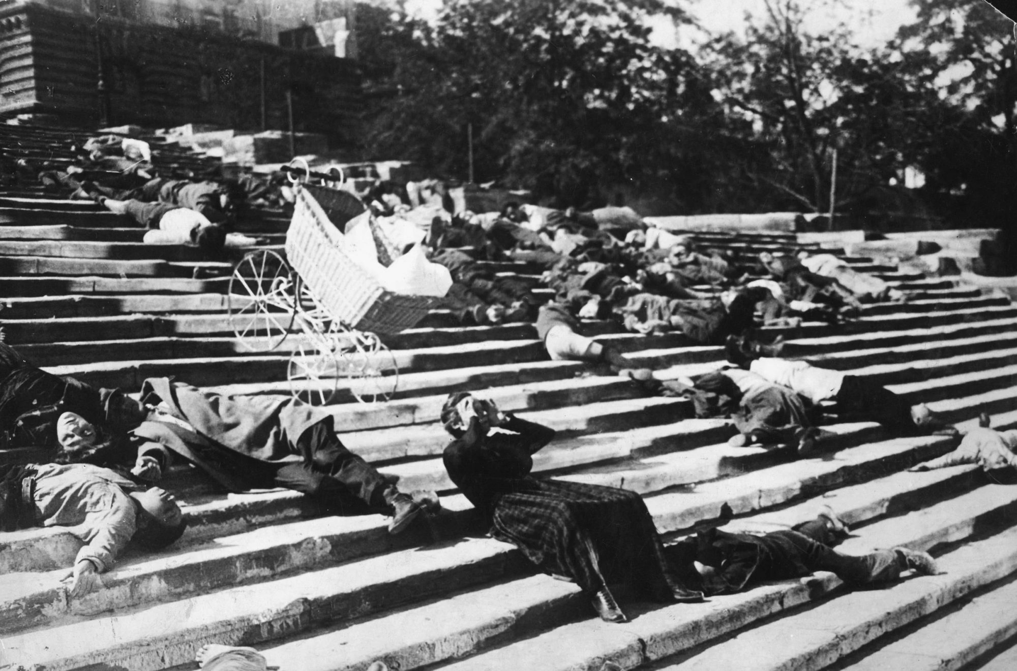 Filmszene aus Panzerkreuzer Potemkin