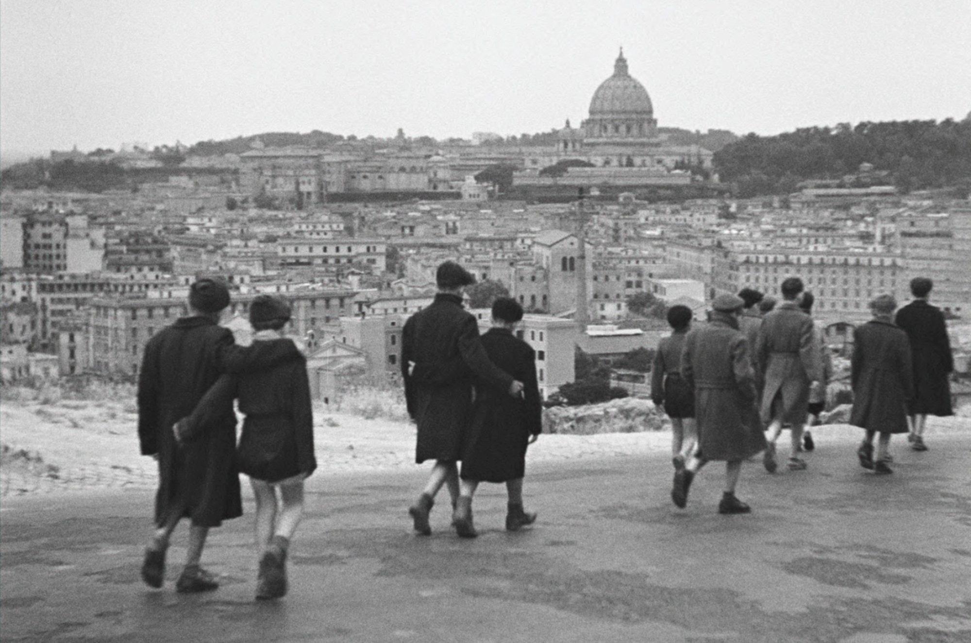 Filmszene aus Rom, offene Stadt